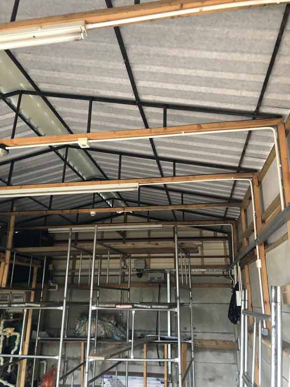 Asbestos Garage Roof Removal Replacement